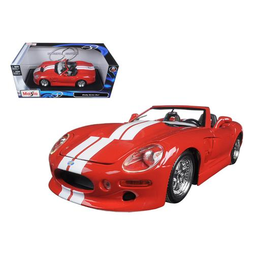 Shelby Series 1 Red with White Stripes 1/18 Diecast Model Car by Maisto