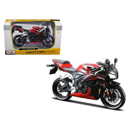 Honda CBR 600RR Red and Black 1/12 Diecast Motorcycle Model by Maisto