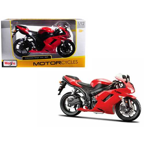 Kawasaki Ninja ZX-6R Red 1/12 Motorcycle Model by Maisto