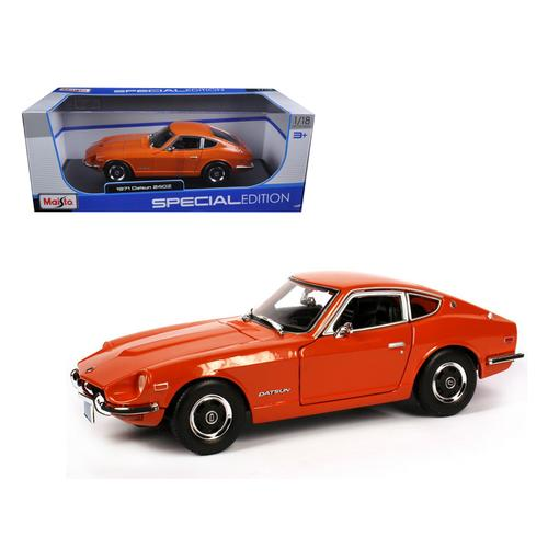 1971 Datsun 240Z Orange 1/18 Diecast Model Car by Maisto