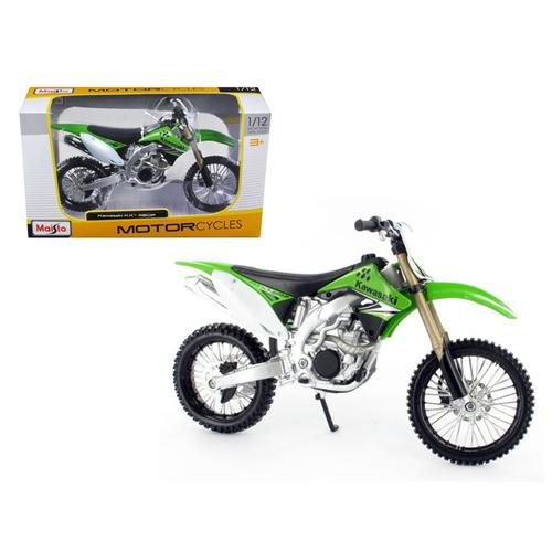 Kawasaki KX 450F Green Motorcycle Model 1/12 Bike by Maisto