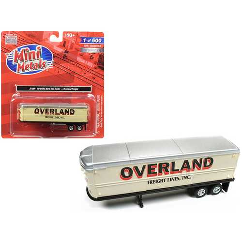 "1940's-1950's Aerovan Trailer ""Overland Freight Lines, Inc."" 1/87 (HO) Scale Model by Classic Metal Works"