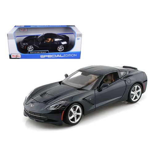 2014 Chevrolet Corvette C7 Stingray Dark Blue 1/18 Diecast Model Car by Maisto