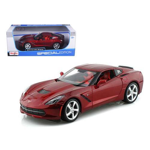 2014 Chevrolet Corvette C7 Stingray Metallic Red 1/18 Diecast Model Car by Maisto