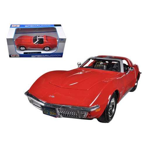 1970 Chevrolet Corvette Red 1/24 Diecast Car Model by Maisto