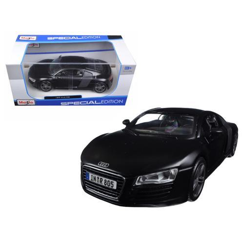 Audi R8 Matt Black 1/24 Diecast Model Car by Maisto