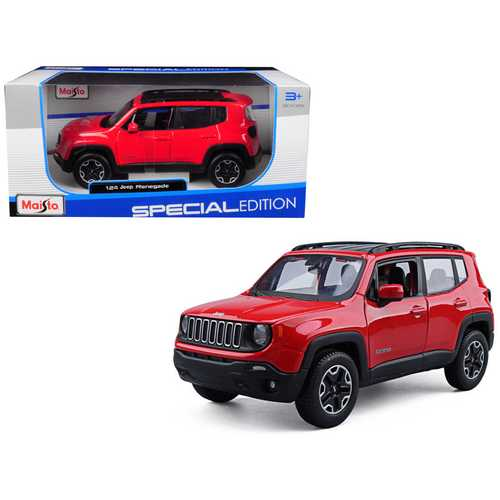 Jeep Renegade Red 1/24 Diecast Model Car by Maisto