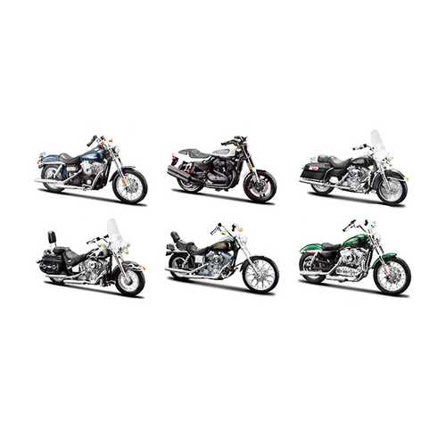 Harley Davidson Motorcycle 6pc Set Series 32 1/18 Diecast Models by Maisto
