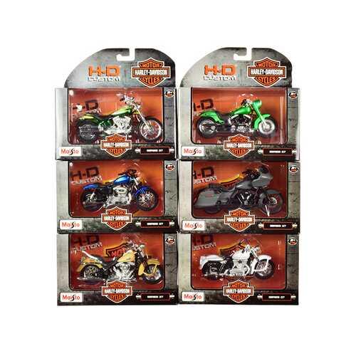 Harley-Davidson Motorcycles 6 piece Set Series 37 1/18 Diecast Models by Maisto