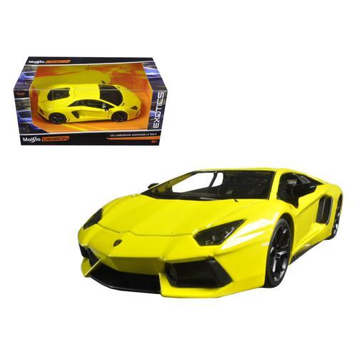 "Lamborghini Aventador LP 700-4 Yellow ""Exotics"" 1/24 Diecast Model Car by Maisto"