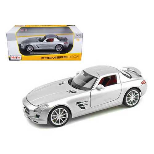 Mercedes Benz SLS AMG Gullwing Silver 1/18 Diecast Model Car by Maisto