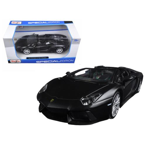 Lamborghini Aventador LP 700-4 Roadster Matt Black 1/24 Diecast Model Car  by Maisto