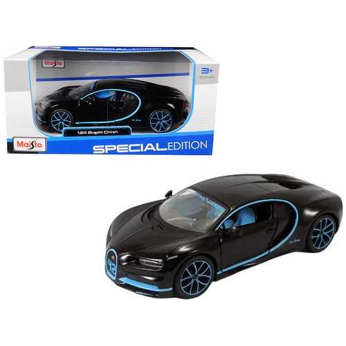Bugatti Chiron 42 Black Limited Edition 1/24 Diecast Model Car by Maisto