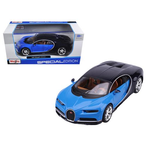 Bugatti Chiron Blue / Dark Blue 1/24 Diecast Model Car by Maisto