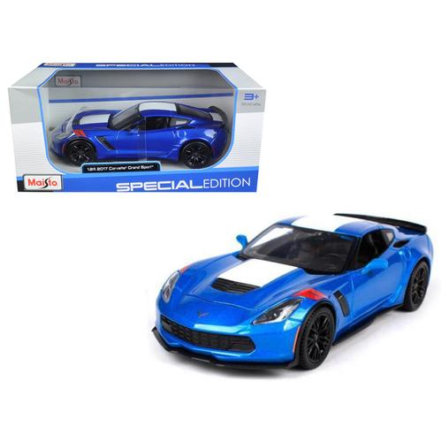 2017 Chevrolet Corvette Grand Sport Blue 1/24 Diecast Model Car by Maisto