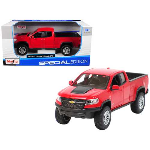 2017 Chevrolet Colorado ZR2 Pickup Truck Red 1/27 Diecast Model Car by Maisto