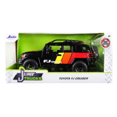 "Toyota FJ Cruiser Custom with Roof Rack Black ""Just Trucks"" 1/24 Diecast Model Car by Jada"