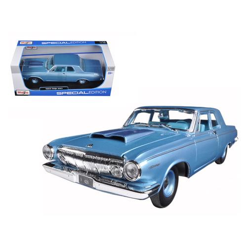 1963 Dodge 330 Blue 1/18 Diecast Model Car by Maisto