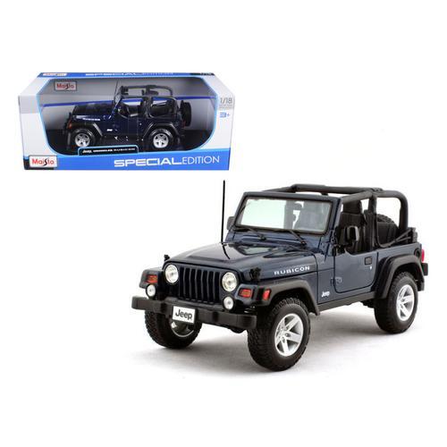 Jeep Wrangler Rubicon Deep Blue 1/18 Diecast Model Car by Maisto