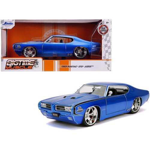 "1969 Pontiac GTO Judge Blue ""Bigtime Muscle"" 1/24 Diecast Model Car by Jada"