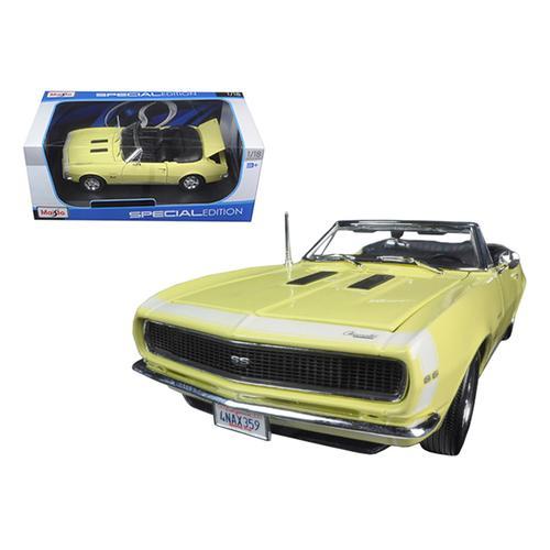 1967 Chevrolet Camaro SS 396 Convertible Yellow 1/18 Diecast Model Car by Maisto