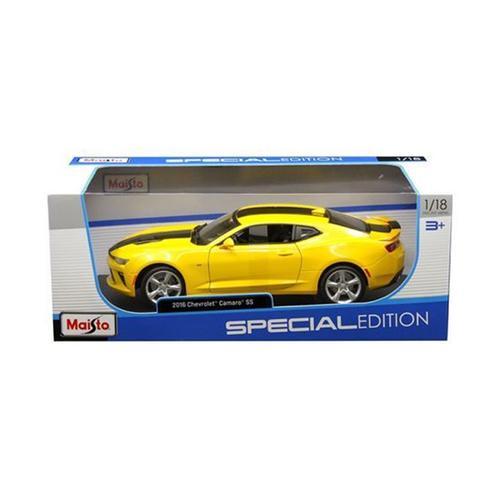 2016 Chevrolet Camaro SS Yellow 1/18 Diecast Model Car by Maisto