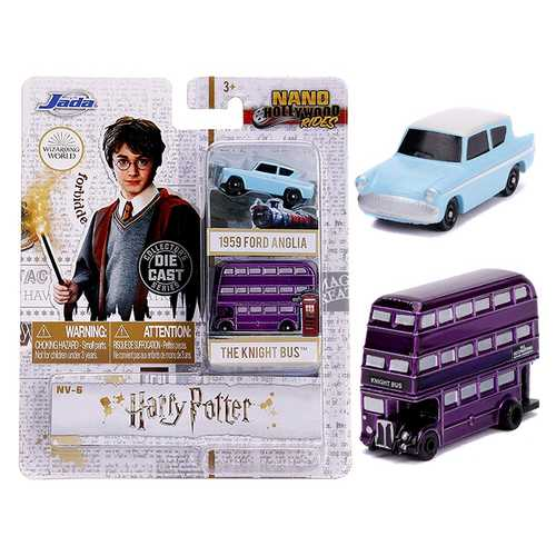 """Harry Potter"" 2 piece Set ""Nano Hollywood Rides"" Diecast Models by Jada"