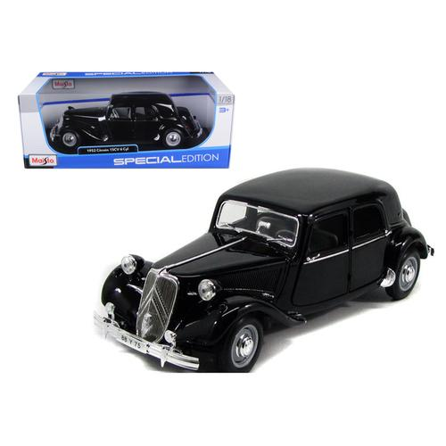 1952 Citroen 15CV 6CYL Black 1/18 Diecast Model Car by Maisto