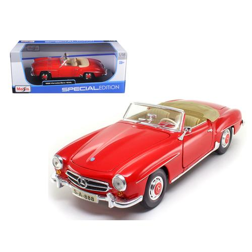 1955 Mercedes 190 SL Red 1/18 Diecast Car Model by Maisto