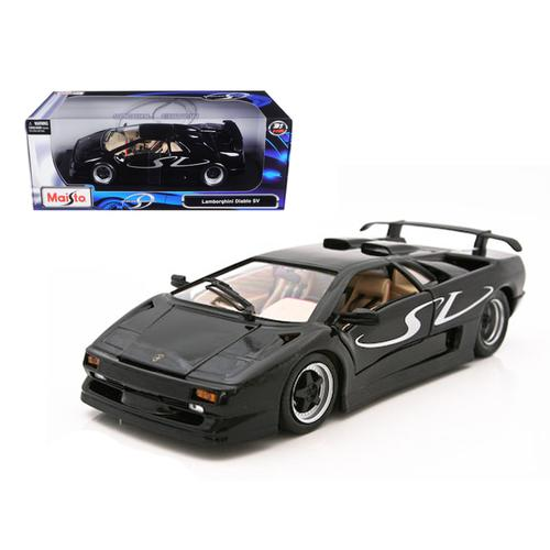 Lamborghini Diablo SV Black 1/18 Diecast Model Car by Maisto