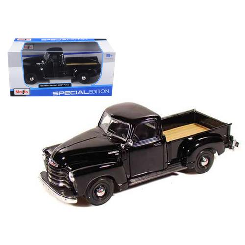 1950 Chevrolet 3100 Pickup Truck Black 1/25 Diecast Model by Maisto