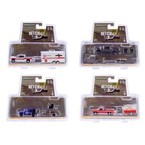 """""""Hitch & Tow"""" Series 19, Set of 4 pieces 1/64 Diecast Model Cars by Greenlight"""