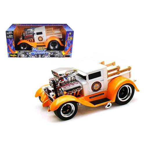 "1929 Ford Model AA Orange/White ""Muscle Machines"" 1/18 Diecast Model Car by Maisto"