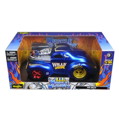 "1941 Willys Coupe Blue ""Muscle Machines"" 1/18 Diecast Model Car by Maisto"