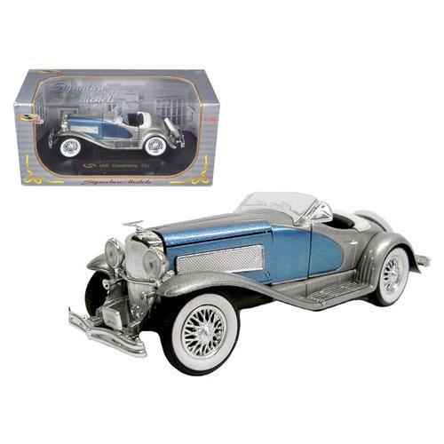 1935 Duesenberg SSJ Convertible Blue and Silver 1/32 Diecast Model Car by Signature Models