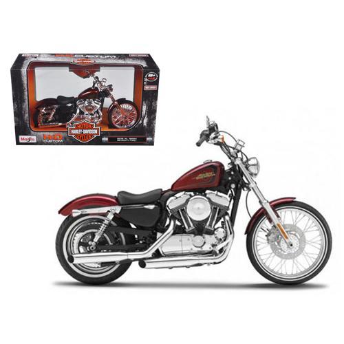 2012 Harley Davidson XL 1200V Seventy Two Red 1/12 Diecast Motorcycle Model by Maisto
