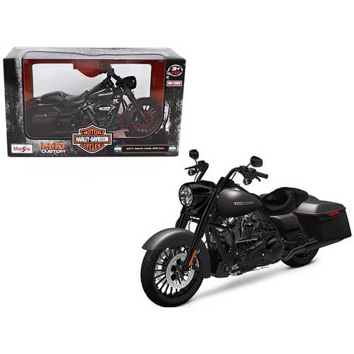 2017 Harley Davidson King Road Special Black Motorcycle Model 1/12 by Maisto