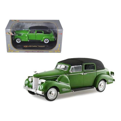 1938 Cadillac Series 90 V16 Fleetwood Green 1/32 Diecast Model Car by Signature Models