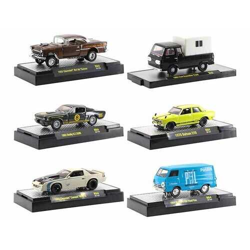 """""""Auto Trucks"""" 6 piece Set Release 64 IN DISPLAY CASES Limited Edition to 7250 pieces Worldwide 1/64 Diecast Model Cars by M2 Machines"""