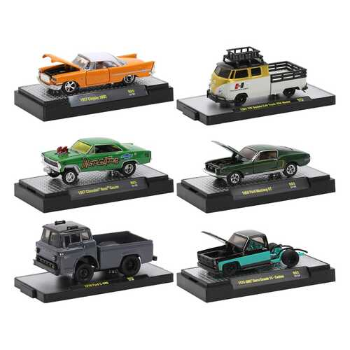 """""""Auto Trucks"""" 6 piece Set Release 65 IN DISPLAY CASES Limited Edition to 7250 pieces Worldwide 1/64 Diecast Model Cars by M2 Machines"""