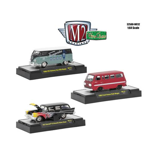 Wild Cards Set of 3 WITH CASES Release WC12 1/64 Diecast Model Cars by M2 Machines