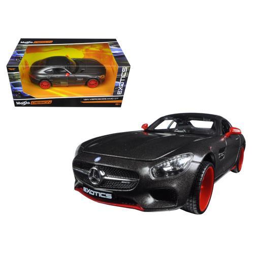 "Mercedes AMG GT Black ""Exotics"" 1/24 Diecast Model Car by Maisto"