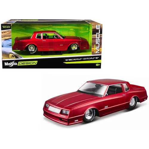 "1986 Chevrolet Monte Carlo SS Candy Red ""Classic Muscle"" 1/24 Diecast Model Car by Maisto"