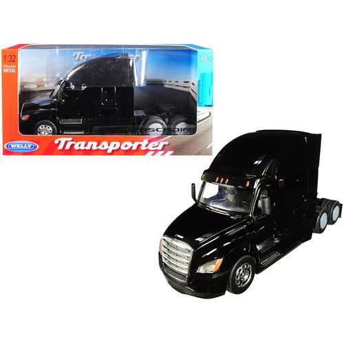"Freightliner Cascadia Truck Black ""Transporter"" 1/32 Diecast Model by Welly"