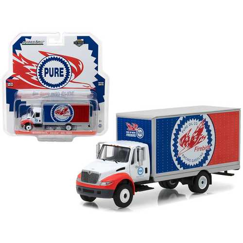 2013 International Durastar Box Truck Pure Oil Co. Firebird Racing Gasoline HD Trucks Series 11 1/64 Diecast Model by Greenlight
