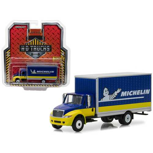2013 International Durastar Michelin Tires Box Van HD Trucks Series 12 1/64 Diecast Model by Greenlight