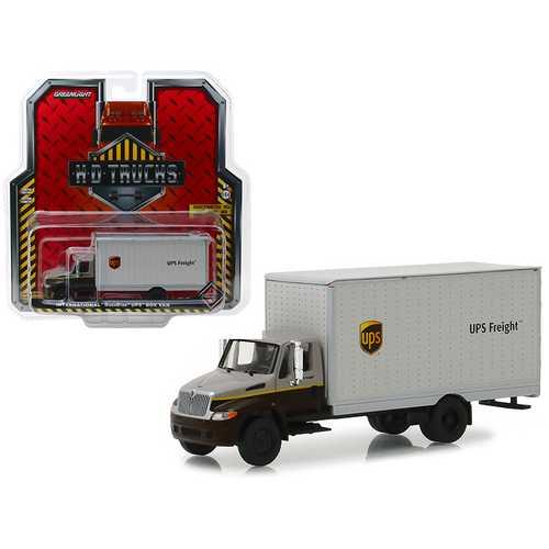 "International Durastar Box Van ""UPS Freight"" (United Parcel Service) ""H.D. Trucks"" Series 15 1/64 Diecast Model by Greenlight"