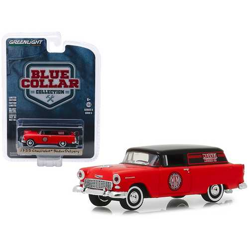 """1955 Chevrolet Sedan Delivery """"Marvel Mystery Oil"""" """"Blue Collar Collection"""" Series 5 1/64 Diecast Model Car by Greenlight"""