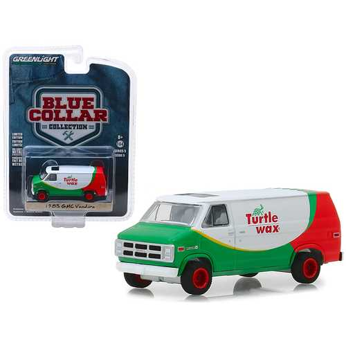 "1983 GMC Vandura Van ""Turtle Wax"" ""Blue Collar Collection"" Series 5 1/64 Diecast Model Car by Greenlight"