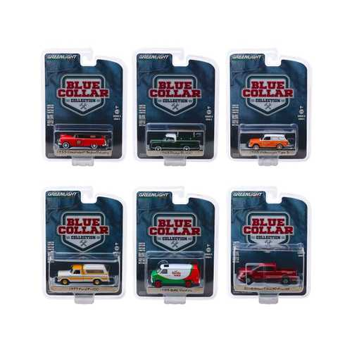 """Blue Collar Collection"" Series 5, Set of 6 pieces 1/64 Diecast Model Cars by Greenlight"
